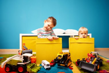 Two boys in children room