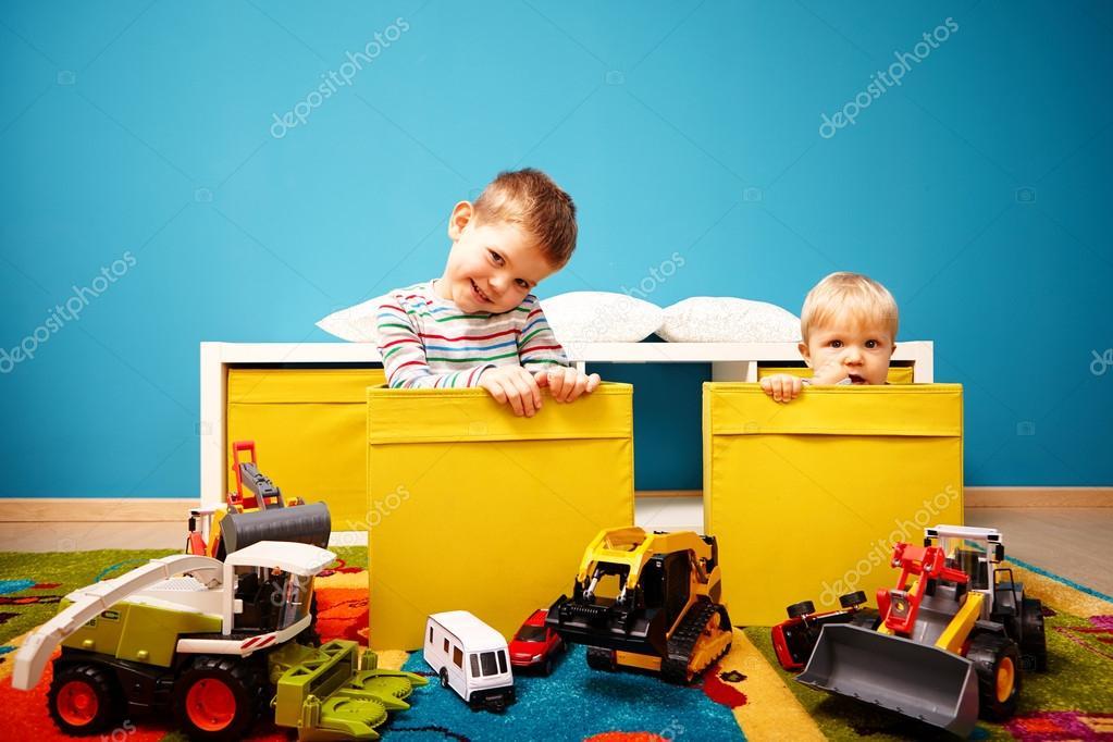 Two boys in children room