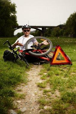 Fixing broken bicycle