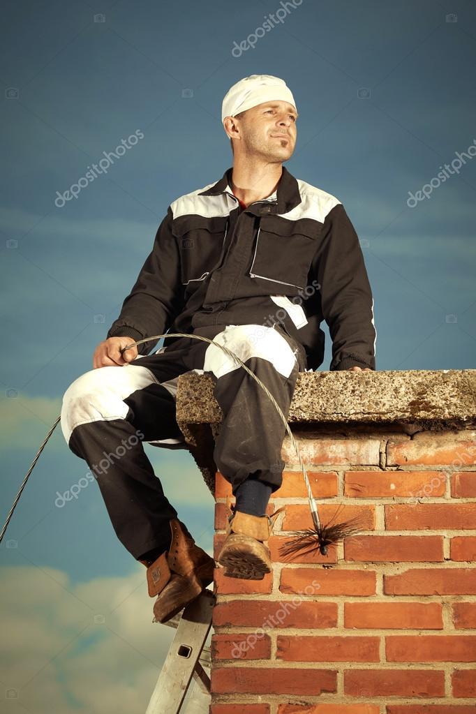 Good chimney sweep man