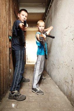 Armed boys