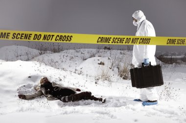 First steps of criminologist on place of homicide