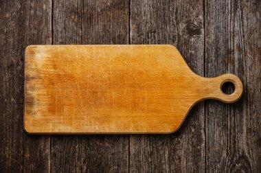 Empty vintage cutting board