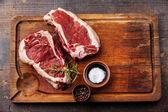 Ribeye steak syrové čerstvé maso a koření