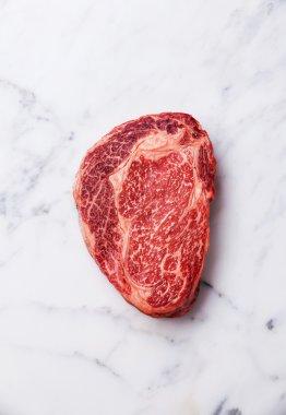 Raw Black Angus Steak Ribeye
