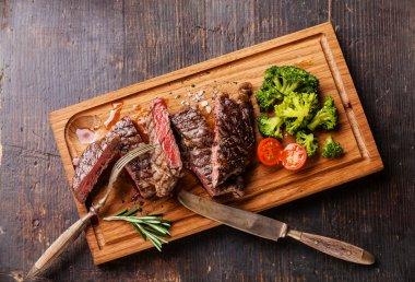 medium rare grilled Beef steak Ribeye