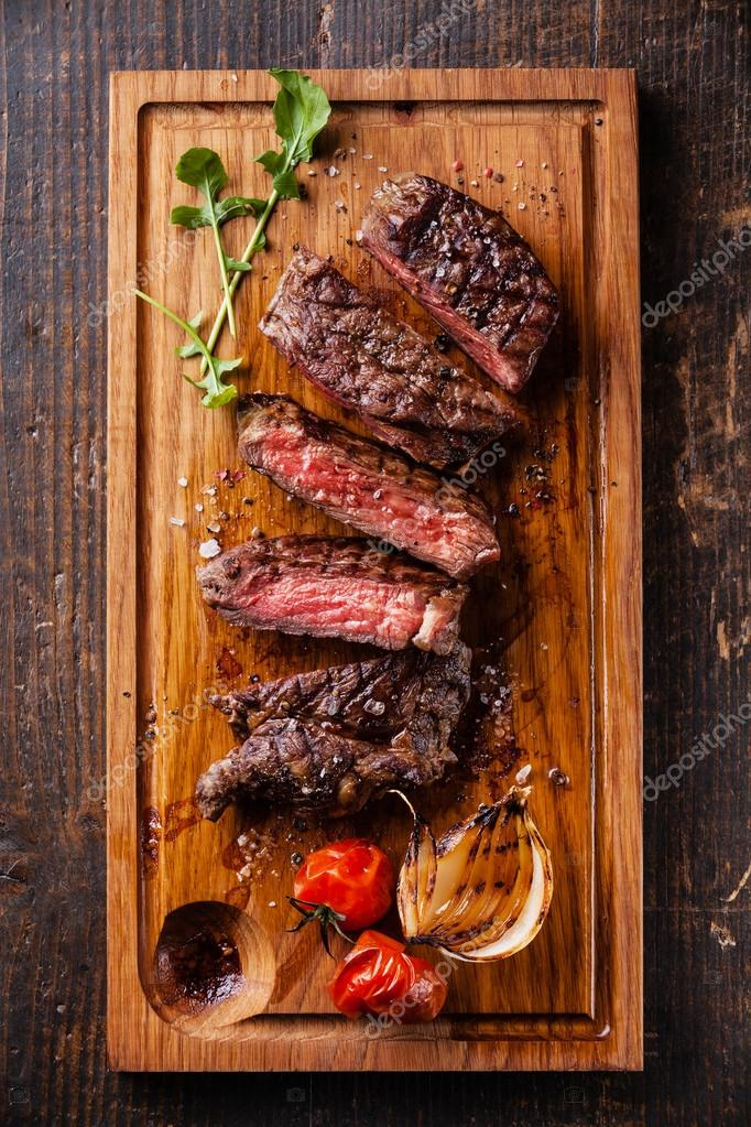 rare grilled Beef steak Ribeye