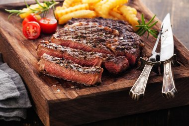 grilled Steak Ribeye with french fries