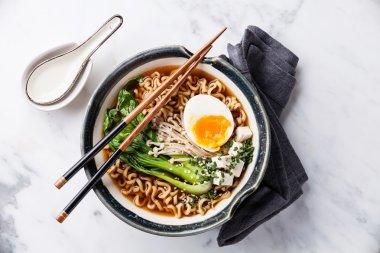Miso Ramen Asian noodles with egg