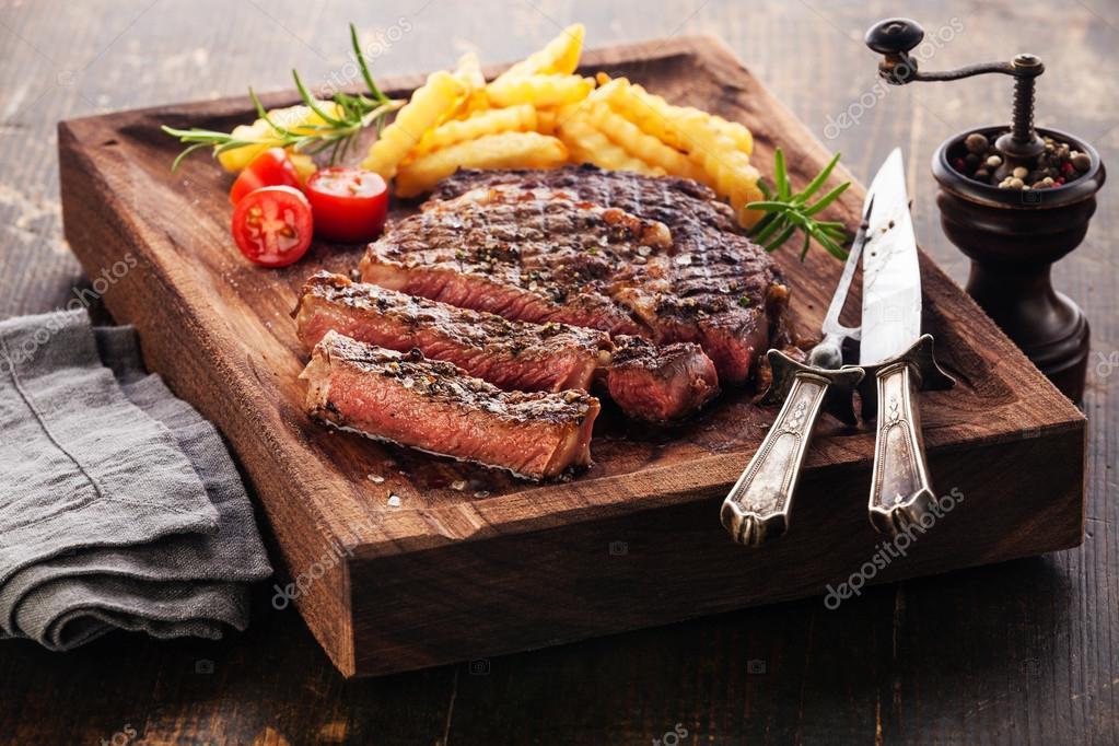 grilled Steak Ribeye Black Angus