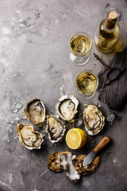 Opened Oysters Fines de Claire