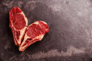 Heart shape Raw fresh meat