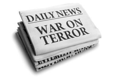 War on terror daily newspaper headline