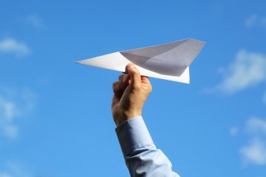 Paper airplane launch
