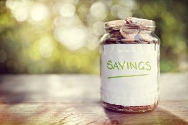 Savings money jar