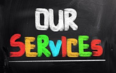 Our Services Concept stock vector
