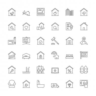 Line icons. Real estate