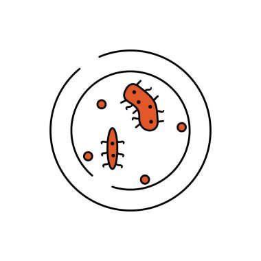 Microorganism bacteria petri dish line icon. element of bacterium virus illustration icons. signs symbols can be used for web logo mobile app UI UX on white background icon