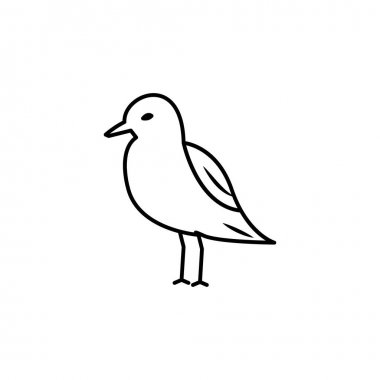 Seagull line icon. signs and symbols can be used for web, logo, mobile app, ui, ux on white background icon