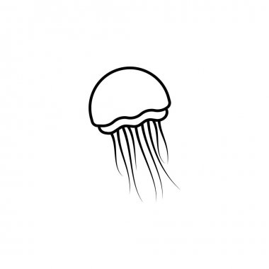 Jellyfish line icon. signs and symbols can be used for web, logo, mobile app, ui, ux on white background icon