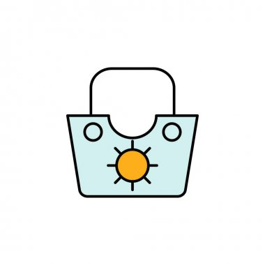 Bag icon. Signs and symbols can be used for web, logo, mobile app, UI, UX multicolored icon