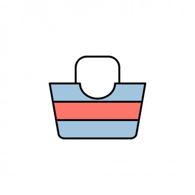 Bag icon. Element of travel illustration. Signs and symbols can be used for web, logo, mobile app, UI, UX multicolored icon