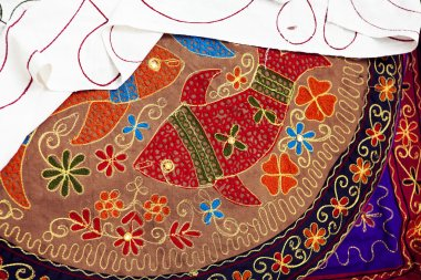 ethnic hand embroidery pattern