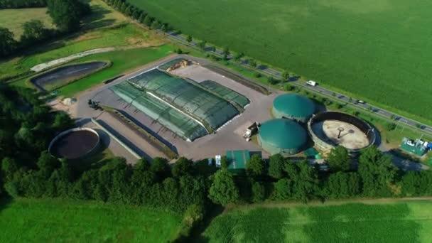 Biogasanlage aus der Luft mit Drohne