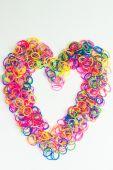 Tkalcovský stav gumička srdce
