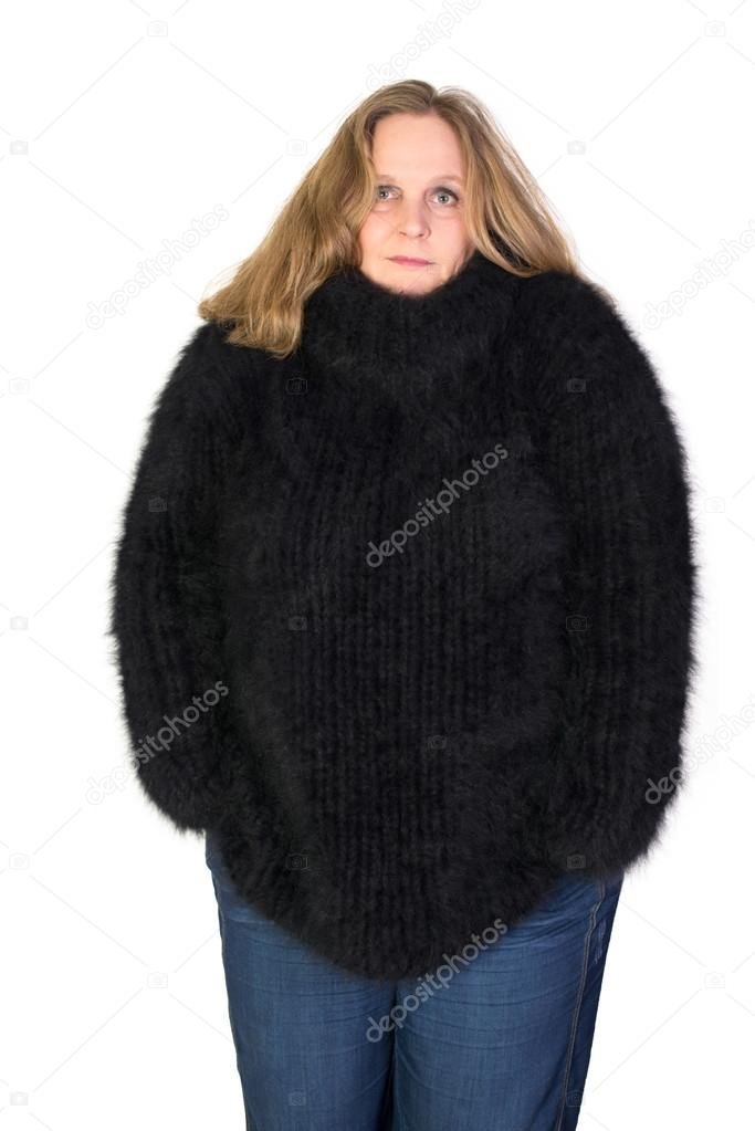 c6d28b740123 Turtleneck Angora Sweater — Stock Photo © vschlichting  57965037