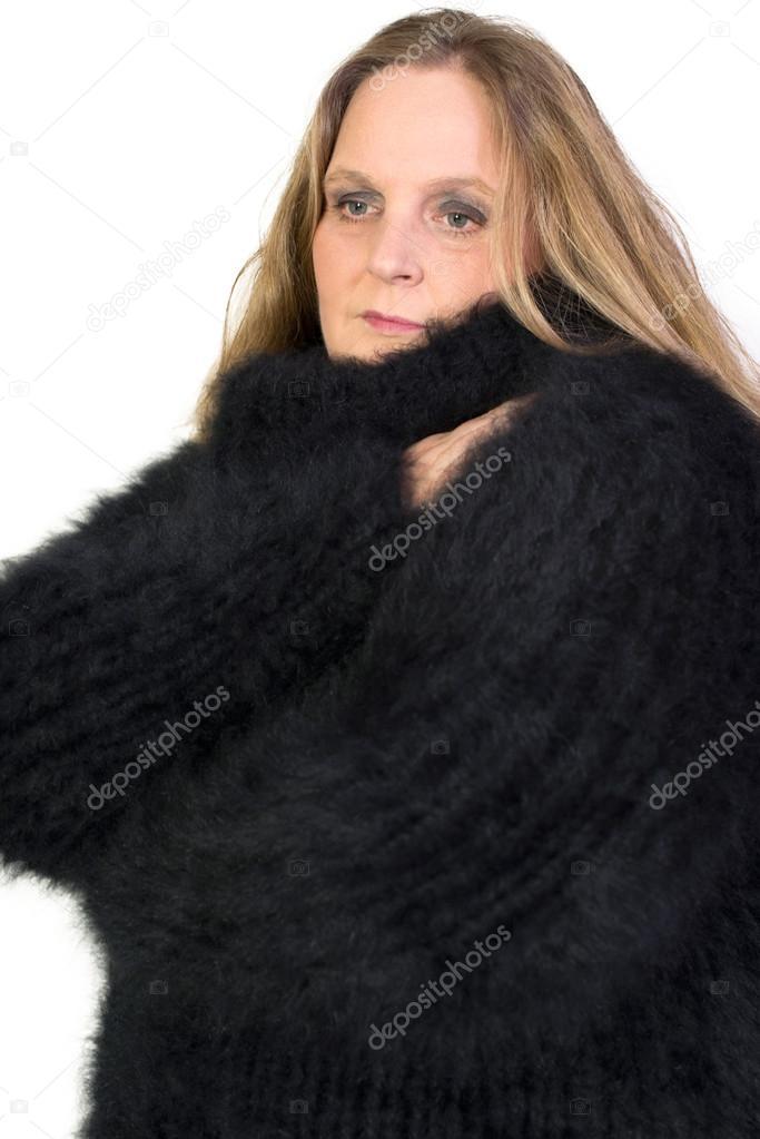 a16f286e790b Turtleneck Angora Sweater — Stock Photo © vschlichting  57965041