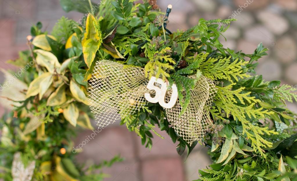 Hochzeit Kranz Aus Ein Großes Herz Stockfoto