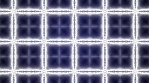 4k video of laser square frames with light effects with sparks on blue background.