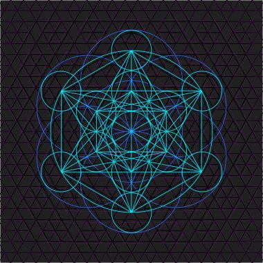 metatron outline seed of life sacred geometr