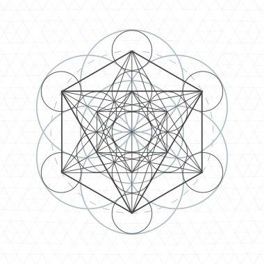 metatron outline seed of life sacred geometr