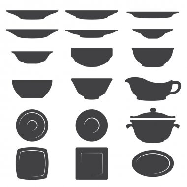 Plates And Dishes silhouette set