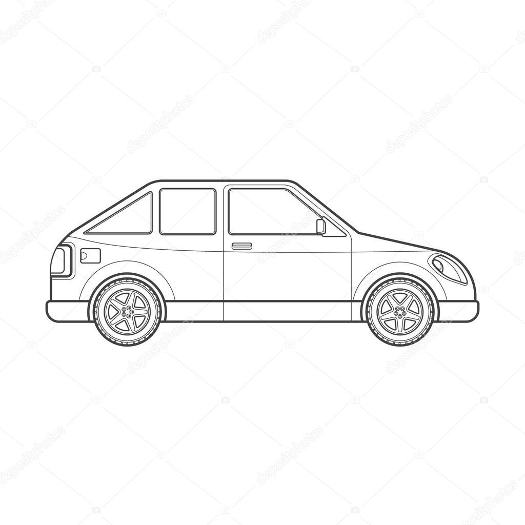 Gliederung mit Heckklappe Auto Körper Stil Abbildung ico ...