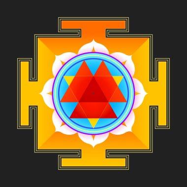 colored Durga yantra illustratio