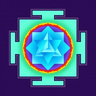 colored merkaba yantra illustratio