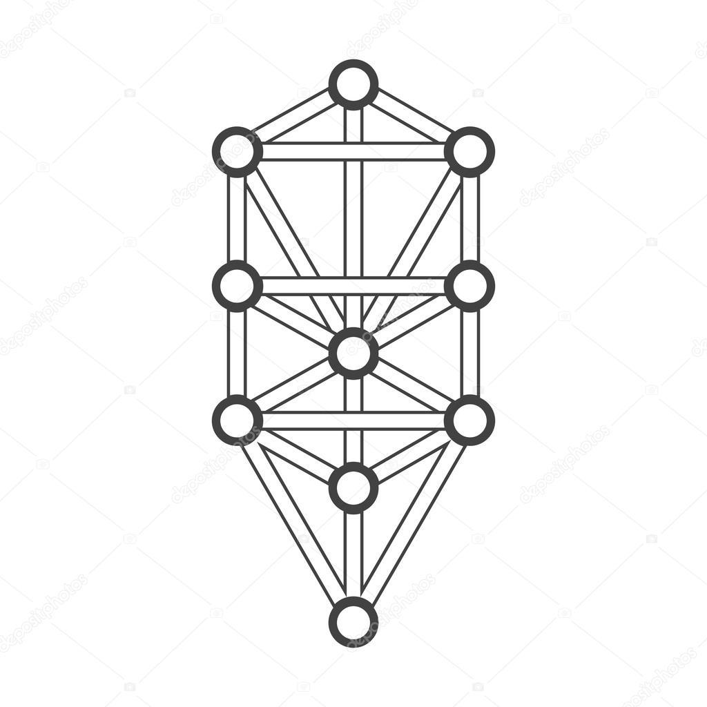 Arboles De La Vida Blanco Y Negro Ilustración De Diagrama De
