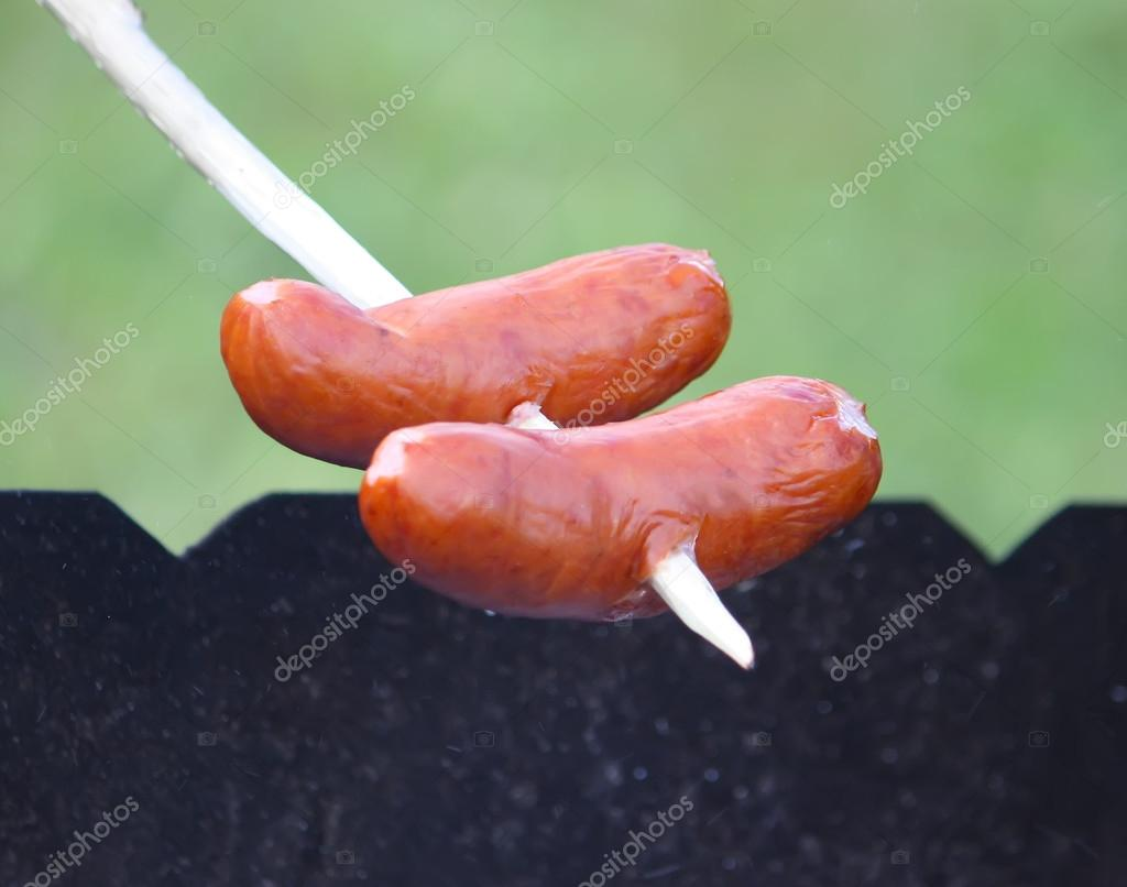 Sausages on a stick
