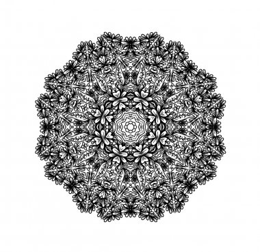 Flora lornament in circle.