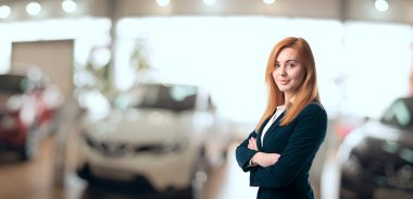 Beautiful car dealer consultant