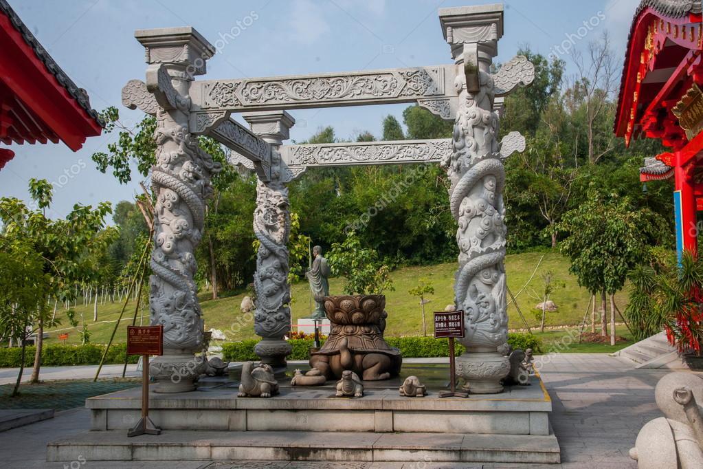 Sanya Nanshan Buddhist Tantric kiosks owned by Ito-Yokado