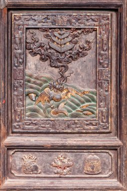 Yunnan Honghe Prefecture Jianshui Temple Great Hall carved door sash