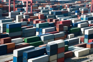 Shanghai Yangshan Deepwater economic FTA container terminal stacking containers