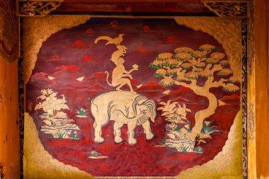 Lijiang, Yunnan Shuhe Shek Lin Monastery mural