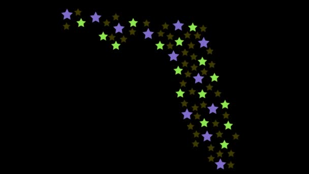 Florida US state map background with colored stars of different sizes video
