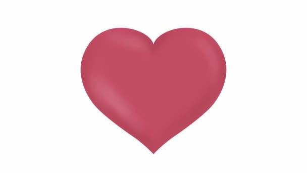 Růžové tlukoucí srdce animované video mp4