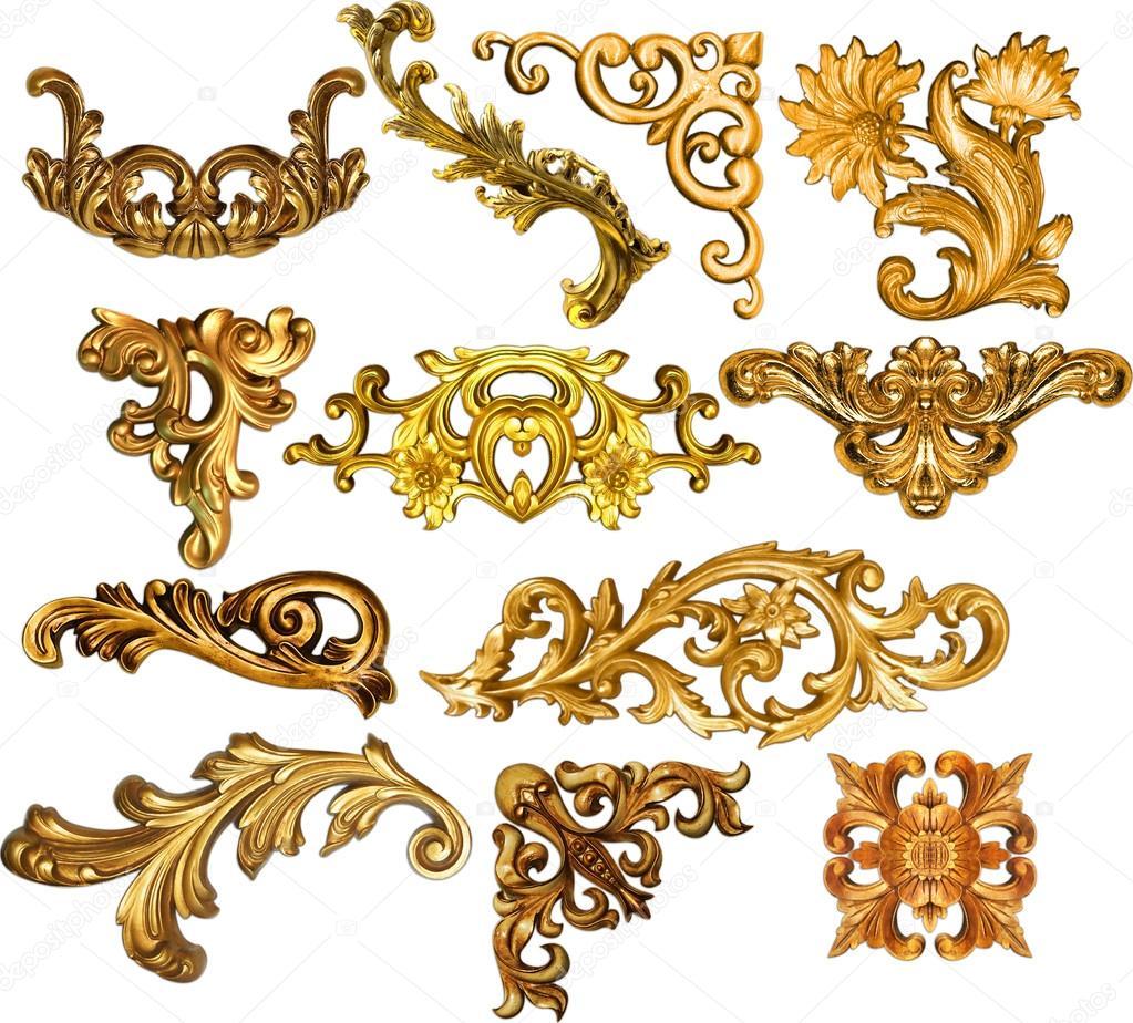 golden baroque stock photo kadirgul 52348125. Black Bedroom Furniture Sets. Home Design Ideas